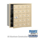 Salsbury Industries 3620SFP 4B+ Horizontal Mailbox (Includes Master Commercial Lock) - 20 A Doors (19 usable) - Sandstone - Front Loading - Private Access