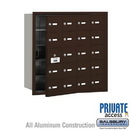 Salsbury Industries 3620ZFP 4B+ Horizontal Mailbox (Includes Master Commercial Lock) - 20 A Doors (19 usable) - Bronze - Front Loading - Private Access