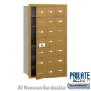 Salsbury Industries 3621GFP 4B+ Horizontal Mailbox (Includes Master Commercial Lock) - 21 A Doors (20 usable) - Gold - Front Loading - Private Access
