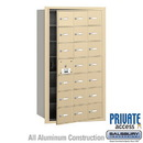 Salsbury Industries 3621SFP 4B+ Horizontal Mailbox (Includes Master Commercial Lock) - 21 A Doors (20 usable) - Sandstone - Front Loading - Private Access