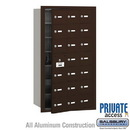 Salsbury Industries 3621ZFP 4B+ Horizontal Mailbox (Includes Master Commercial Lock) - 21 A Doors (20 usable) - Bronze - Front Loading - Private Access