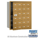 Salsbury Industries 3624GFP 4B+ Horizontal Mailbox (Includes Master Commercial Lock) - 24 A Doors (23 usable) - Gold - Front Loading - Private Access