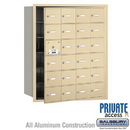 Salsbury Industries 3624SFP 4B+ Horizontal Mailbox (Includes Master Commercial Lock) - 24 A Doors (23 usable) - Sandstone - Front Loading - Private Access