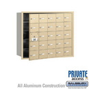 Salsbury Industries 3625SFP 4B+ Horizontal Mailbox (Includes Master Commercial Lock) - 25 A Doors (24 usable) - Sandstone - Front Loading - Private Access