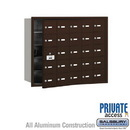 Salsbury Industries 3625ZFP 4B+ Horizontal Mailbox (Includes Master Commercial Lock) - 25 A Doors (24 usable) - Bronze - Front Loading - Private Access
