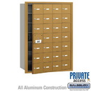 Salsbury Industries 3628GFP 4B+ Horizontal Mailbox (Includes Master Commercial Lock) - 28 A Doors (27 usable) - Gold - Front Loading - Private Access