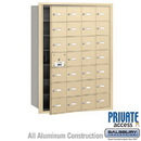 Salsbury Industries 3628SFP 4B+ Horizontal Mailbox (Includes Master Commercial Lock) - 28 A Doors (27 usable) - Sandstone - Front Loading - Private Access