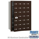 Salsbury Industries 3628ZFP 4B+ Horizontal Mailbox (Includes Master Commercial Lock) - 28 A Doors (27 usable) - Bronze - Front Loading - Private Access