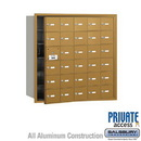 Salsbury Industries 3630GFP 4B+ Horizontal Mailbox (Includes Master Commercial Lock) - 30 A Doors (29 usable) - Gold - Front Loading - Private Access