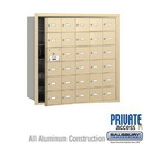 Salsbury Industries 3630SFP 4B+ Horizontal Mailbox (Includes Master Commercial Lock) - 30 A Doors (29 usable) - Sandstone - Front Loading - Private Access