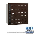 Salsbury Industries 3630ZFP 4B+ Horizontal Mailbox (Includes Master Commercial Lock) - 30 A Doors (29 usable) - Bronze - Front Loading - Private Access