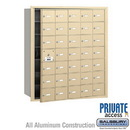 Salsbury Industries 3635SFP 4B+ Horizontal Mailbox (Includes Master Commercial Lock) - 35 A Doors (34 usable) - Sandstone - Front Loading - Private Access