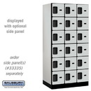 Salsbury Industries 36361GRY Designer Wood Locker - Six Tier Box Style - 3 Wide - 6 Feet High - 21 Inches Deep - Gray