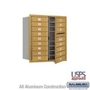 Salsbury Industries 3709D-16GFU 4C Horizontal Mailbox - 9 Door High Unit (34 Inches) - Double Column - 16 MB1 Doors - Gold - Front Loading - USPS Access