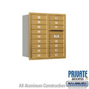 Salsbury Industries 3709D-16GRP 4C Horizontal Mailbox - 9 Door High Unit (34 Inches) - Double Column - 16 MB1 Doors - Gold - Rear Loading - Private Access
