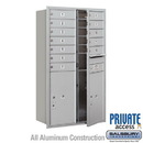 Salsbury Industries 3713D-12AFP 4C Horizontal Mailbox (Includes Master Commercial Locks) - 13 Door High Unit (48 Inches) - Double Column - 12 MB1 Doors / 2 PL6's - Aluminum - Front Loading
