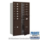 Salsbury Industries 3713D-12ZFP 4C Horizontal Mailbox (Includes Master Commercial Locks) - 13 Door High Unit (48 Inches) - Double Column - 12 MB1 Doors / 2 PL6's - Bronze - Front Loading