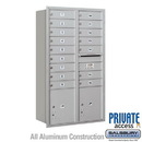 Salsbury Industries 3713D-16ARP 4C Horizontal Mailbox (Includes Master Commercial Locks) - 13 Door High Unit (48 Inches) - Double Column - 16 MB1 Doors / 2 PL4's - Aluminum - Rear Loading - Private