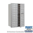 Salsbury Industries 3713D-24AFP 4C Horizontal Mailbox (Includes Master Commercial Lock) - 13 Door High Unit (48 Inches) - Double Column - 24 MB1 Doors - Aluminum - Front Loading - Private Access