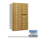 Salsbury Industries 3713D-24GRP 4C Horizontal Mailbox - 13 Door High Unit (48 Inches) - Double Column - 24 MB1 Doors - Gold - Rear Loading - Private Access