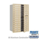 Salsbury Industries 3713D-24SFP 4C Horizontal Mailbox (Includes Master Commercial Lock) - 13 Door High Unit (48 Inches) - Double Column - 24 MB1 Doors - Sandstone - Front Loading - Private Access