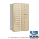 Salsbury Industries 3713D-24SRP 4C Horizontal Mailbox - 13 Door High Unit (48 Inches) - Double Column - 24 MB1 Doors - Sandstone - Rear Loading - Private Access