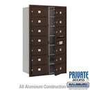 Salsbury Industries 3714D-13ZFP 4C Horizontal Mailbox (Includes Master Commercial Lock) - 14 Door High Unit (51 1/2 Inches) - Double Column - 13 MB2 Doors - Bronze - Front Loading - Private Access