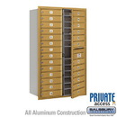 Salsbury Industries 3714D-26GFP 4C Horizontal Mailbox (Includes Master Commercial Lock) - 14 Door High Unit (51 1/2 Inches) - Double Column - 26 MB1 Doors - Gold - Front Loading - Private Access
