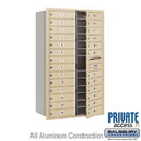 Salsbury Industries 3714D-26SFP 4C Horizontal Mailbox (Includes Master Commercial Lock) - 14 Door High Unit (51 1/2 Inches) - Double Column - 26 MB1 Doors - Sandstone - Front Loading - Private Access