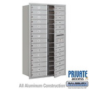 Salsbury Industries 3715D-28AFP 4C Horizontal Mailbox (Includes Master Commercial Lock) - 15 Door High Unit (55 Inches) - Double Column - 28 MB1 Doors - Aluminum - Front Loading - Private Access