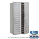 Salsbury Industries 3715D-29AFP 4C Horizontal Mailbox (Includes Master Commercial Lock) - 15 Door High Unit (55 Inches) - Double Column - 29 MB1 Doors - Aluminum - Front Loading - Private