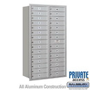 Salsbury Industries 3715D-29ARP 4C Horizontal Mailbox (Includes Master Commercial Lock) - 15 Door High Unit (55 Inches) - Double Column - 29 MB1 Doors - Aluminum - Rear Loading - Private