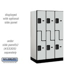 Salsbury 37351GRY Designer Wood Locker - Double Tier 'S' Style - 3 Wide - 5 Feet High - 21 Inches Deep - Gray