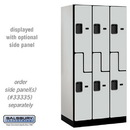 Salsbury Industries 37361GRY Designer Wood Locker - Double Tier S Style - 3 Wide - 6 Feet High - 21 Inches Deep - Gray