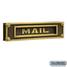 Salsbury Industries 4075A Mail Slot - Deluxe - Solid Brass - Antique Finish