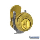 Salsbury Industries 4190 Lock - Standard Replacement - for Locking Column Mailbox and Modern Mailbox - with (2) Keys - Gold Finish