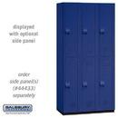 Salsbury Industries 42368BLU Heavy Duty Plastic Locker - Double Tier - 3 Wide - 6 Feet High - 18 Inches Deep - Blue
