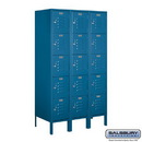 Salsbury Industries 65358BL-U Standard Metal Locker - Five Tier Box Style - 3 Wide - 5 Feet High - 18 Inches Deep - Blue - Unassembled