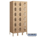 Salsbury Industries 76368TN-A Vented Metal Locker - Six Tier Box Style - 3 Wide - 6 Feet High - 18 Inches Deep - Tan - Assembled