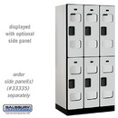 Salsbury Industries S-32361GRY See-Through Designer Wood Locker - Double Tier - 3 Wide - 6 Feet High - 21 Inches Deep - Gray