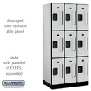 Salsbury Industries S-33361GRY See-Through Designer Wood Locker - Triple Tier - 3 Wide - 6 Feet High - 21 Inches Deep - Gray