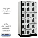 Salsbury Industries S-36361GRY See-Through Designer Wood Locker - Six Tier Box Style - 3 Wide - 6 Feet High - 21 Inches Deep - Gray