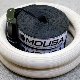MuscleDriver USA MDWR MDUSA Wood Gymnastic Rings - Pair