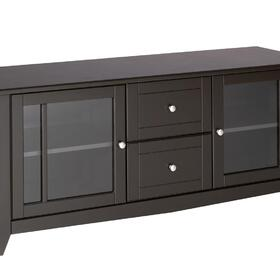 Nexera 58'' TV Console with 2 glass doors, 2 drawers, MPN: 200117