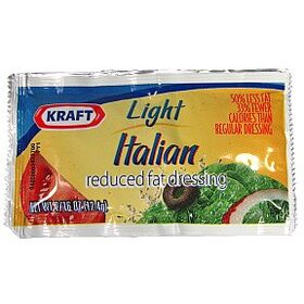 Kraft Light Reduced Fat Italian 7/16 oz, Price/Case