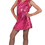Funny Fashions 782748MD Disco Dress Child Hot Pk Md