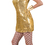 Funny Fashions 782756 Disco Dress Gold Adult Small
