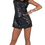 Funny Fashions 782774 Disco Bk Dress Stnrd W Choker