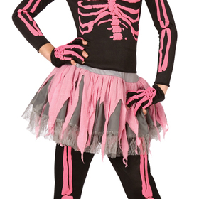 Morris Costumes LF-3146CMD Skeleton Punk Pink Child 8-10