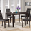 """Monarch Specialties I 1171 Dark Brown Leather-Look 38""""H Dining Chair / 2Pcs Per Ctn"""